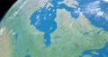 Hudson Bay in planet earth, aerial view from outer space 76856325