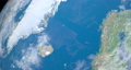 Greenland Sea in planet earth, aerial view from outer space 76856329