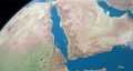 Gulf of Suez in planet earth, aerial view from outer space 76856330