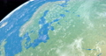 Baltic Sea in planet earth, aerial view from outer space 76856338
