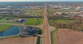 Aerial view of residential quarters at beautiful town urban landscape the Caseyville Illinois on USA 76863967
