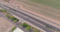 Top view over the traffic backed up during rush hour on Interstate highway, expressway near phoenix on Arizona 76863971