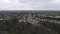 Aerial view of Balboa neighborhood with houses and residential condos in San Diego 76868708