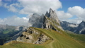 Seceda and Furchetta summit peaks in Trentino Alto Adige, Dolomites Alps, South Tyrol, Italy, Europe. Epic and unique most visited mountain range in Val Gardena, Dolomiti 76872919