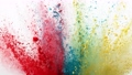 Super slow motion of colored powder explosion isolated on white background. Filmed on high speed cinema camera, 1000fps. 76873747