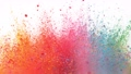 Super slow motion of colored powder explosion isolated on white background. Filmed on high speed cinema camera, 1000fps. 76873752