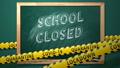 COVID-19. School closed. New Normal. 76877196