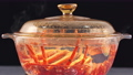 Boiling cookingBoiling cooking raw fresh Cape rock lobster, West Coast rock lobster raw fresh Cape rock lobster, West Coast rock lobster, Jasus lalandii in a glass pot, close up, 4K UHD footage video. 76885511