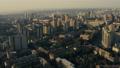 City house sunset building town aerial sun 76890186