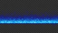 左右に連続配置することが可能なシンプルなタイトルバック(ループ可能) - ブルー/透過背景 76890406