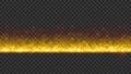 左右に連続配置することが可能なシンプルなタイトルバック(ループ可能) - イエロー/透過背景 76890416
