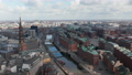 Aerial view of residential houses by the canals of Elbe river in Hamburg city center 76896502