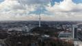 Heinrich Hertz TV Tower in Hamburg rising above the urban city center 76896517