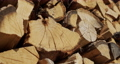 Slider FullHD shot: Oak firewood is dried in a woodpile 76919805
