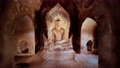 statue of sitting Buddha inside an untitled simple temple in Bagan Myanmar 76959568