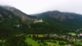 Neuschwanstein Castle Bavarian Alps Germany. Aerial FPV drone flights. 76959989