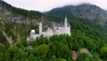 Neuschwanstein Castle Bavarian Alps Germany. Aerial FPV drone flights. 76959990