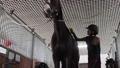 Girl preparing horse for riding 76986699