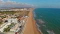 Aerial view empty beach of La Mata 76994192