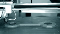 3D printer printing a model in the form of close-up. The concept modern 76999689