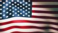 風にはためくアメリカ合衆国旗(星条旗)のCG映像(ループ) 77036032
