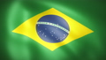 風にはためくブラジル国旗のループCG映像 77038893