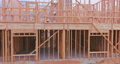 Exterior with wood framing beam of new house under construction beam wood 77047103