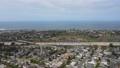 Aerial view of highway in Encinitas in San Diego County 77070418