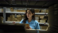 Business concept of 4k Resolution. Asian women intently inspecting items in the warehouse. 77106322