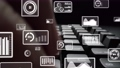 Creative visual of business big data and finance analysis on computer 77156260