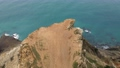 flying on a drone over Cape Fiolent in the spring on the day 77165056