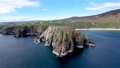 Aerial view of the beautiful coast at Malin Beg in County Donegal - Ireland 77210084