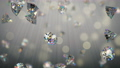 Shining brilliant diamonds in light rays 3D render seamless loop animation 77224269