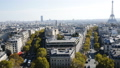 Paris urban scape with Eiffel Tower on sunny autumn day, France 77255881