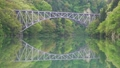 只見線・第1橋梁・上り6:06通過(福島県・三島町) 77404132
