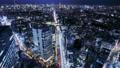 Tokyo Timelapse Cityscape of night view towards Minato Ward seen from Shibuya 77579984