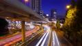 黃昏時分,東京時差車在青山通上行走 77579991