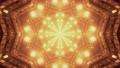 Surreal tunnel with gleaming golden lights 4K UHD 60 FPS 3d illustration 77601974