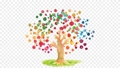 SDGsイメージの水彩の木のアニメーション 77675859