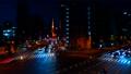 東京タワーが見える札の辻交差点から見た東京夜景タイムラプス映像 77986574