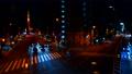 東京タワーが見える札の辻交差点から見た東京夜景タイムラプス映像 77986575