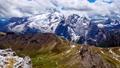 4K panning timelapse aerial view of Sass Pordoi Mountain, Dolomites, Italy 78076957