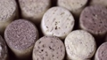many different wine corks rotating closeup footage 78276677