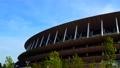 東京2020オリンピック・パラリンピック会場の東京国立競技場をパン撮影 78414094