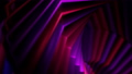 Abstract glowing violet twisted shape. Computer generated abstract geometric 3D render loop animation. Beautiful 3d animation of rotating and screwing geometric figure. 78511002