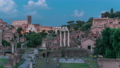 Ruins of Forum Romanum on Capitolium hill day to night timelapse in Rome, Italy 78551873
