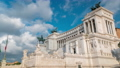 Rome, Italy. Famous Vittoriano with gigantic equestrian statue of King Vittorio Emanuele II timelapse. 78551875