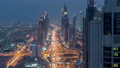 Dubai Sheikh Zayed Road day to night timelapse near Dubai Downtown Closer Look shows the density of these roads 78551884