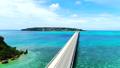 沖縄の青い空と美しい海を空撮 @沖縄本島 古宇利島 78574301