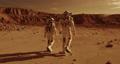 Unrecognizable astronauts walking on Mars 78576256